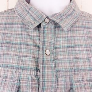 Columbia Size L Pearl Snap Shirt Button Shirt S/S